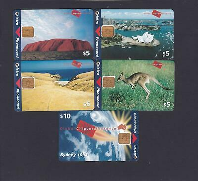 Global Chipcard Alliance Set Of 5 Cards Only Known Set In Collector Hands Mint