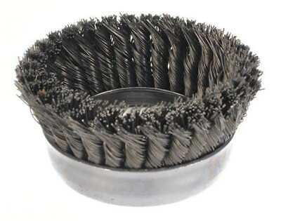WEILER 93398 Knot Wire Cup Wire Brush, Threaded Arbor, 5""