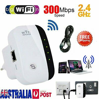 WiFi Range Extender Super Booster 300Mbps Superboost Speed Wireless Repeater NEW