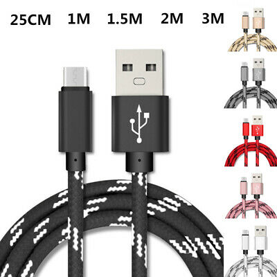 Micro USB Plaid Braided Charger Cable For Samsung A10 S7 S6 J4 J6 J7 J8 A7 2018