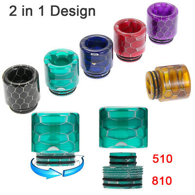 510 810 Drip Tip Epoxy Resin Snake Skin Mouthpiece Cap for Zues X TFV8 Baby