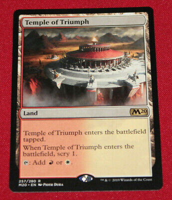 Magic The Gathering Temple of Triumph Core Set 2020 Used