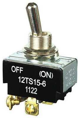 HONEYWELL 12TS15-6 Toggle Switch (ON)-OFF DPST 10A @ 277V Screw Terminals