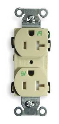 HUBBELL WIRING DEVICE-KELLEMS BR20IWRTR 20A Duplex Receptacle 125VAC 5-20R IV