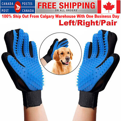 Dog Cat Pet Grooming Deshedding Glove Hair Remover Brush Left/Right for Gentle