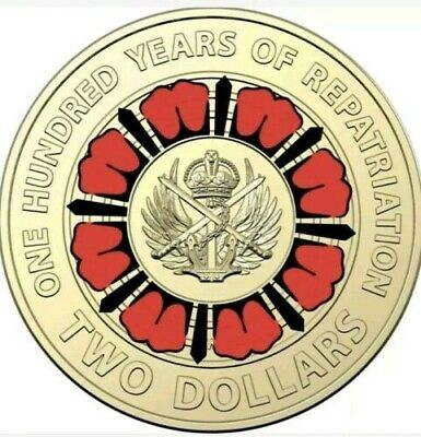 2019 - Australian One Hundred Years of Repatriation UNC coin from Royal Mint Bag