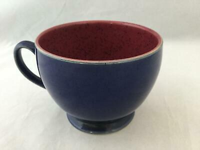 Denby Harlequin Blue & Red Speckled Breatfast Coffee Mug / Tea Cup - SHIPS FREE