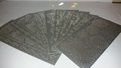 Christmas Stickers craft Card Making  silver x10 sheets lot 3