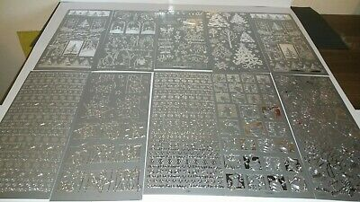 Christmas Stickers craft Card Making  silver x10 sheets