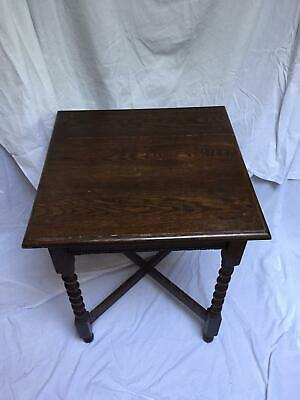 Antique side occasional table attractive wood twisted legs
