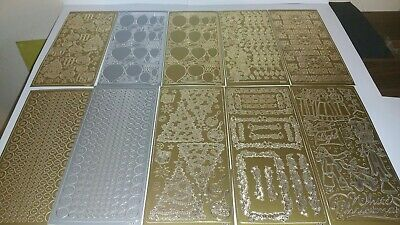 Christmas Stickers craft Card Making gold and  silver x10 sheets Lot 9