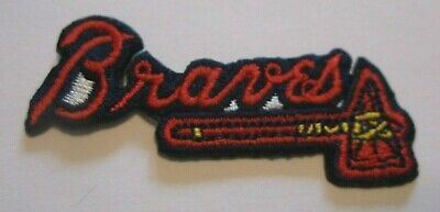 "Atlanta Braves Embroidered PATCH~2 3/8"" x 3/4""~Iron Sew On~MLB~US Ships FREE"