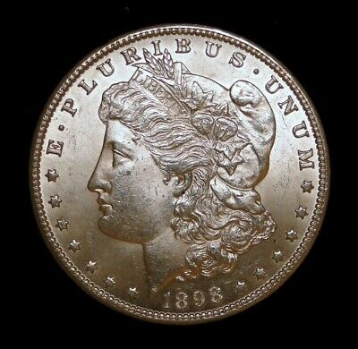 Gem Pq* Blast White 1898-O Morgan Silver Dollar 100% Original 100% Problem Free