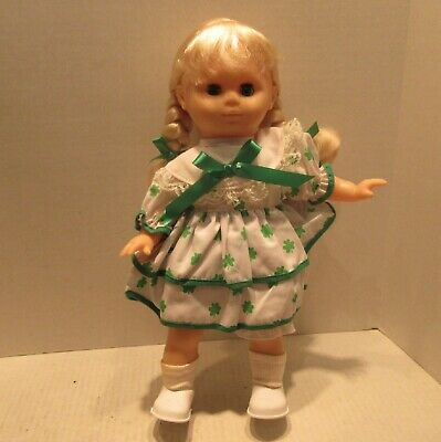 "Lillian Vernon 15"" St. Patrick's Day Doll 7430 with Comb &  Hair Brush"