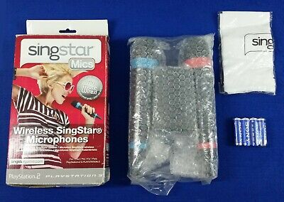 ps3/ps4 WIRELESS SINGSTAR MICS x2 Microphones *NEW* Official + USB Hub Receiver
