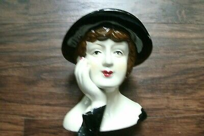 Pair Of Rare Vintage Lady With Black Hat & Hands Collectors Piece-5 Inches