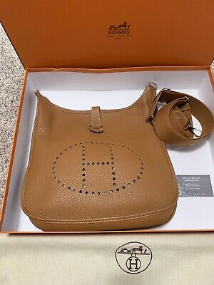 ef94a32aa Hermes Evelyne III GM Shoulder Bag Gold Taurillon Clemence - Size 33 With  Box