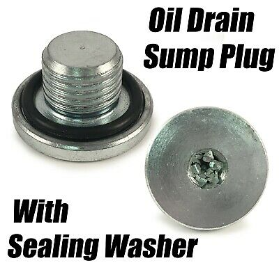 Engine Oil Pan Drain Sump Plug Bolt Replacement Rubber Washer Included 48876