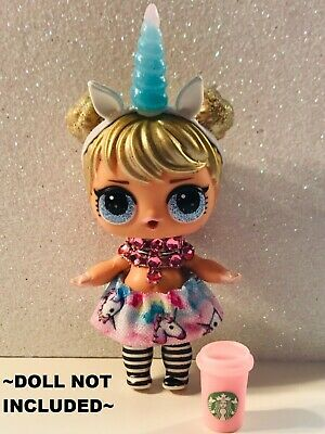 4 PC LOL Accessories Surprise Doll Starbucks Clothes Lot *Doll Not Included*