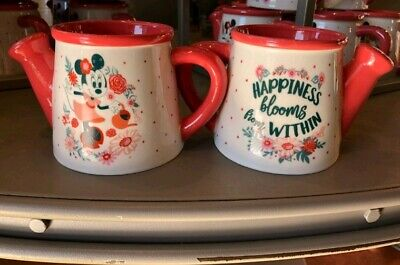 New Disney Epcot Flower & Garden 2019 Minnie Mouse Watering Can Coffee Mug Cup