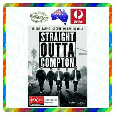 Straight Outta Compton Aus Region 4DVD 2015 Dre Eazy-E Ice Cube Mc Ren Yella