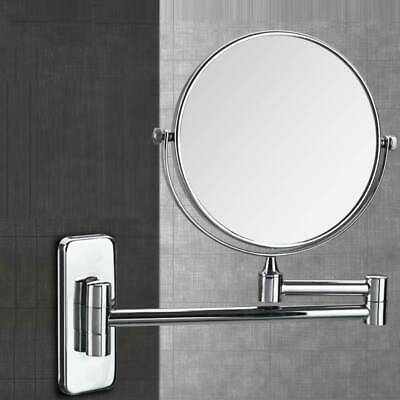 10x Magnification Double-sided Wall Mounted Mirror Extendable/Chrome Finished UK
