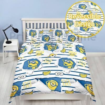 Official Despicable Me Minions Awesome Double Duvet Cover Set Rotary Boys Girls