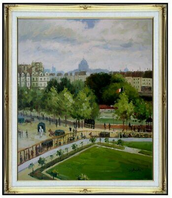 Framed, Monet The Garden of Infanta Repro, Hand painted Oil Painting 20x24in
