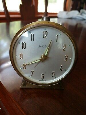 Vintage Seth Thomas Made In Germany Small Mantel Alarm Clock