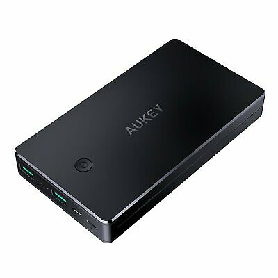 Power Bank External Battery Portable Smartphone Charger Dual Port 20000mAh AUKEY