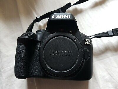 Canon EOS 4000d DSLR Black - Digital Camera - Body Only - Excellent Condition