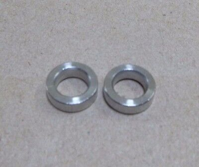 """1/4"""" ID x 13/32"""" OD x 1/8"""" TALL STAINLESS STEEL STANDOFF BUSHING SPACERS (2pc.)"""