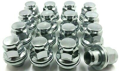 16 x ALLOY WHEEL NUTS JAGUAR S-TYPE / X-TYPE CHROME M12 X 1.5 LUG BOLTS NUTS 76