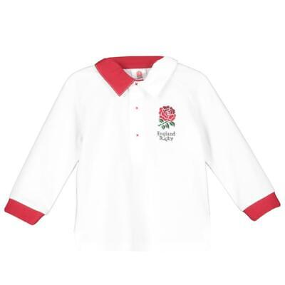 England RFU Rugby Baby/Toddler Long Sleeved Rugby Shirt | White | 2019/20