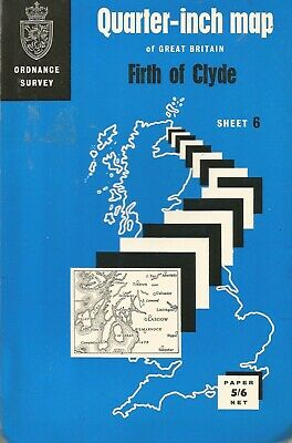Firth of Clyde Vintage Map Ordnance Survey Sheet 6 Paper 1/4 Inch 1965
