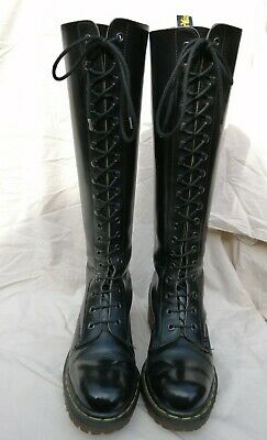 Rare Vintage Dr Martens Made In England Knee High Boots Steampunk Goth Punk