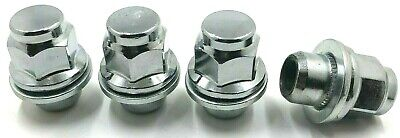 4 x ALLOY WHEEL NUTS FOR JAGUAR XF XF-R XE (M12 X 1.5) CHROME BOLTS LUGS NUTS 76