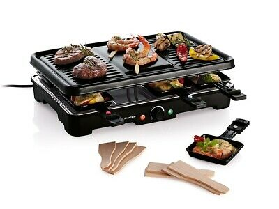 Raclette Grills 37 x 22cm 1200W For grilling & cooking meat fish & vegetables
