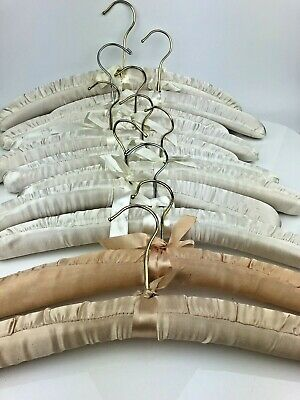 11  Satin Padded Hangers Vintage Womens Fine Clothes Gowns