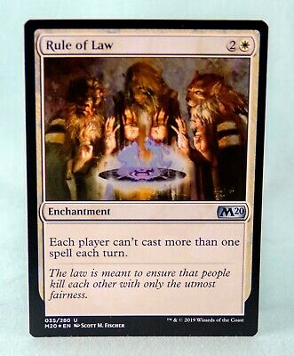 Magic MTG M20 Mint//NM Pack Fresh BOGO FREE! Rule of Law Core Set 2020 x4