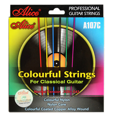 Alice Coloured Classical Guitar Strings