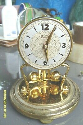 Mantel  Clock  Koma Anniversary  Clock Glass Dome  Prescott