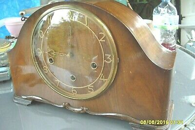 Mantel  Clock  Large Smiths  Westminster Clock Key  And  Pendulum See Video