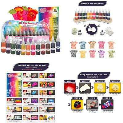and Groups Doodlehog Easy Tie Dye Party Kit for Kids Create Vibrant 12 Adults