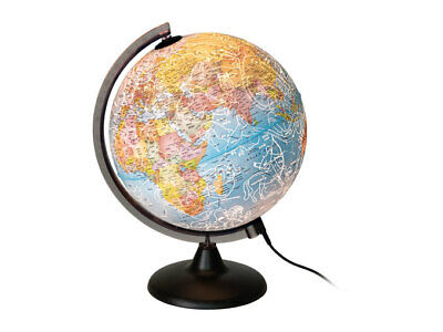 Melinera 2-in-1 Day and Night Globe with power adapter + built-in LED, Geography