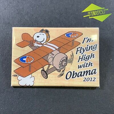 Rare 2012 'I'm Flying High With Obama' Snoopy Political Campaign Badge