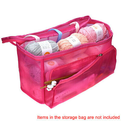 Clear Needles Holder Yarn Storage Case Storage Case Tote Knitting Bag Container