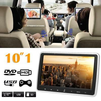 """10.1"""" Car Headrest Monitor DVD Player USB/SD/HDMI/FM/Game TFT LCD Touch Screen A"""