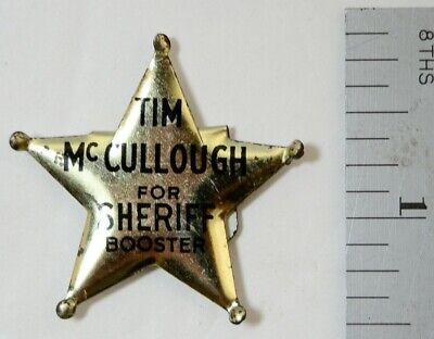 Tim McCullough King County Sheriff Political Campaign Badge Pin Corruption Vtg