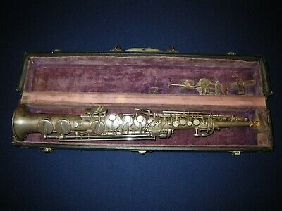 1922 CONN NW1 key of C SOPRANO SAXOPHONE - VGC, EXCELLENT RESTORATION CANDIDATE